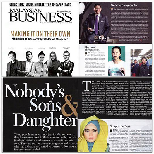 Malaysian Business: 30 Successful Under 40 Malaysians