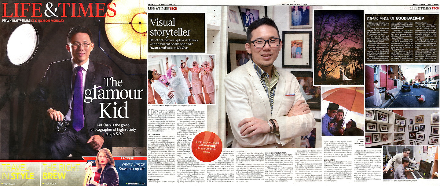New Straits Times: Kid Chan, 'The Glamour Kid'