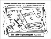 Bible Treasure Map Page Coloring Pages