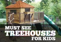 Must See Treehouses for Kids: Childrens Treehouse Designs