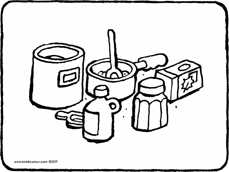 bakery thoughtfully designed colouring pages  kiddicolour