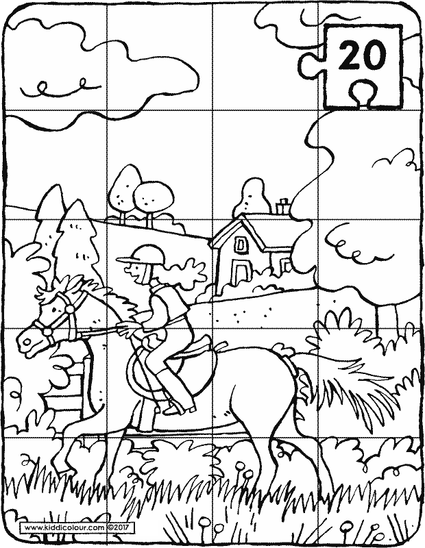 puzzles colouring pages  kiddicolour