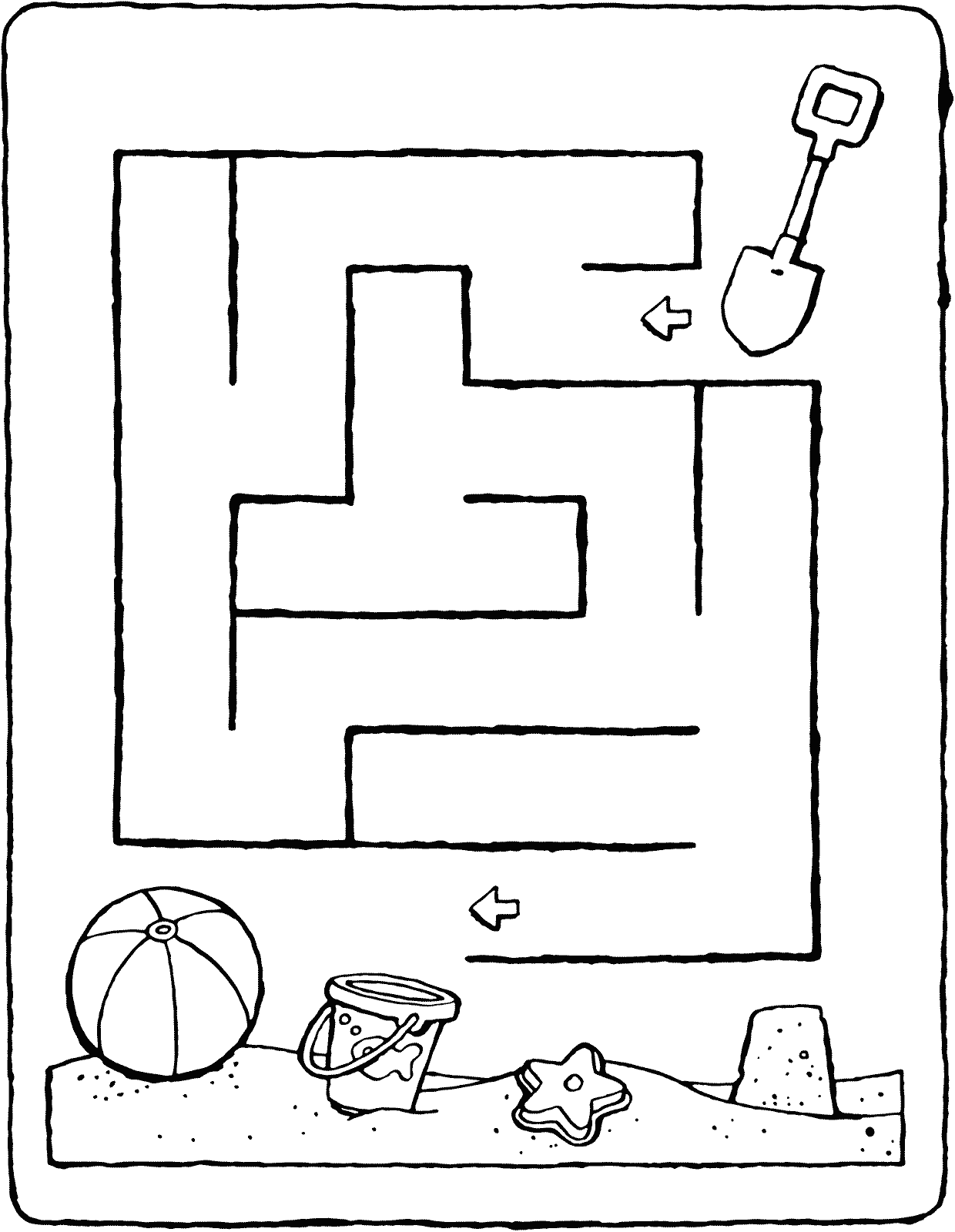 Maze In The Sand