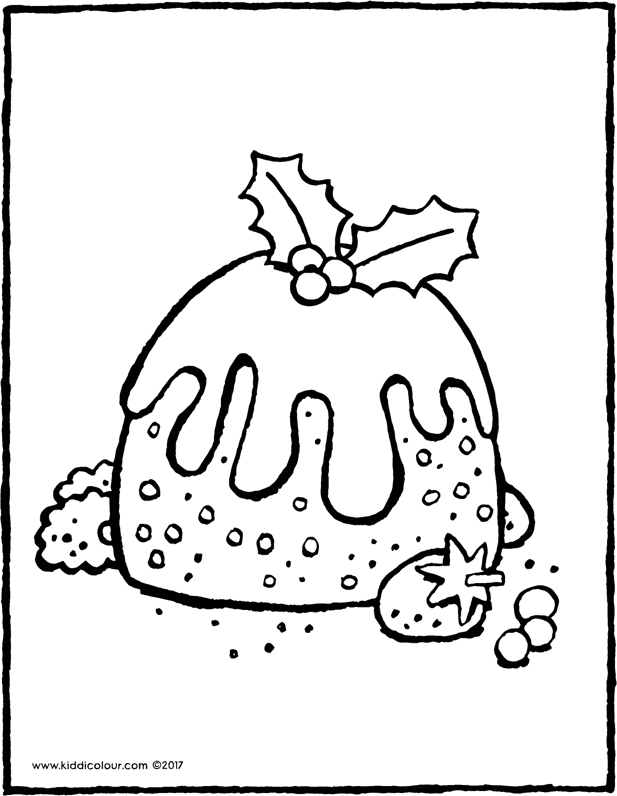Christmas Pudding Coloring Pages