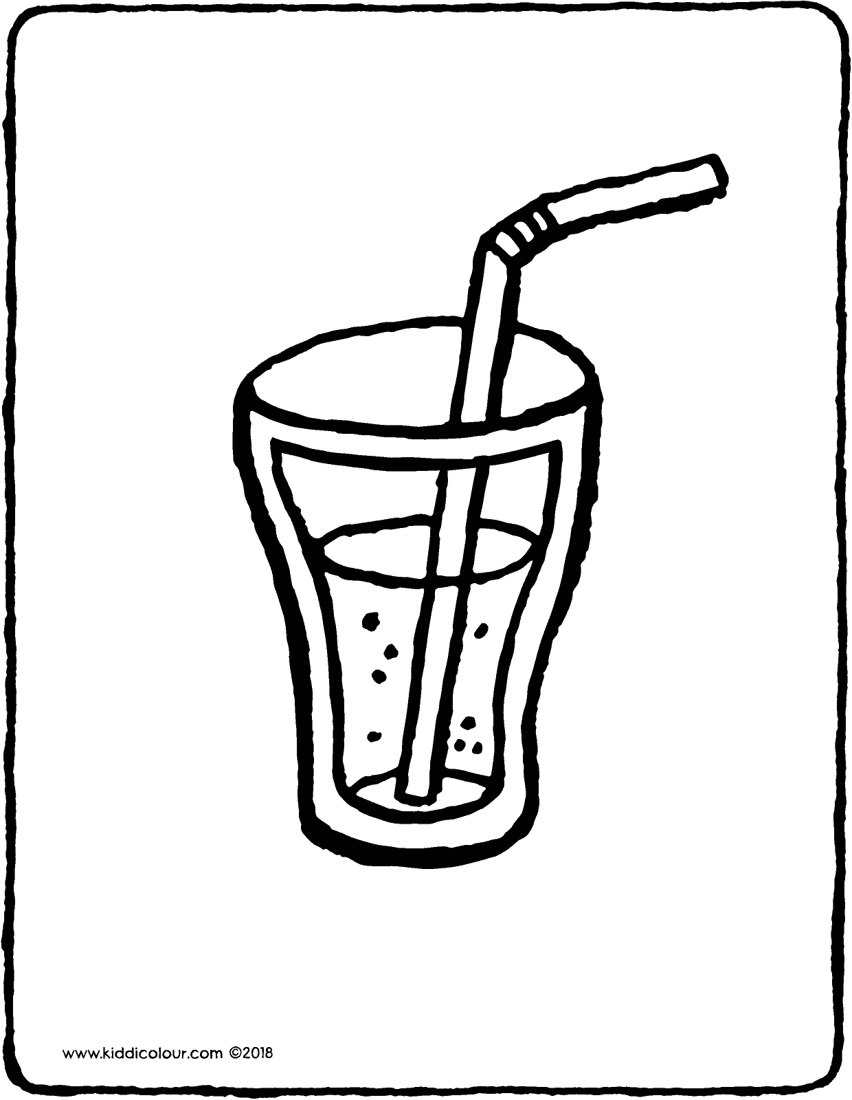 Free Coloring Pages Download Glass Of Lemonade With A Straw Kiddi Kleurprentjes