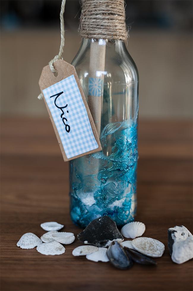 Flaschenpost Einladung fr die Beachparty