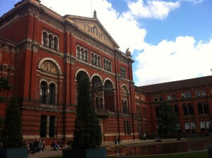 One of the beautiful buildings in the courtyard of the V&A
