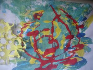 Paint splodges
