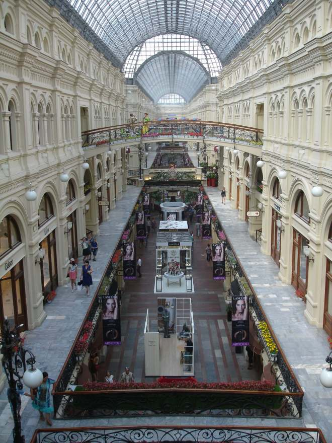 Inside GUM, Red Square, Moscow