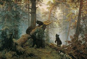 Shishkin's Bears at the Tretyakov Gallery
