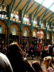Unicycling street Performer at Covent Garden