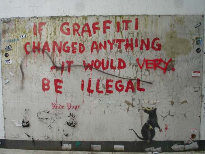 Banksy near Regents Park