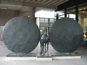 Horse sculpture at the Museum of London
