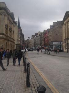 Royal Mile from Museum of Childhood Edinburgh