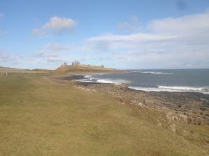 Dunstanburgh Castle a bit nearer