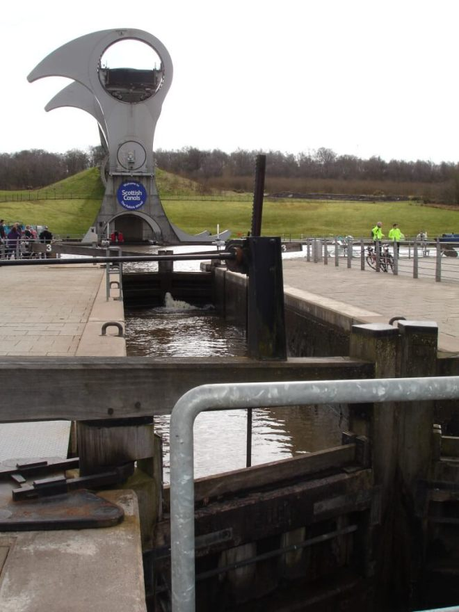 Falkirk Wheel and a lock