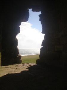 Inside Dunstanburgh Castle