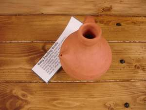 Roman baby's bottle at Welwyn Roman Baths