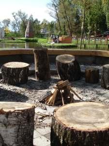 Campfire at Gorodskaya Ferma VDNH