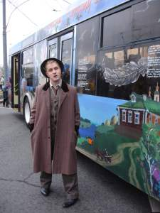 Costumes at the trolleybus parade 2015