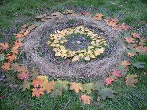 Leaf art at Gorodskaya Ferma VDNH