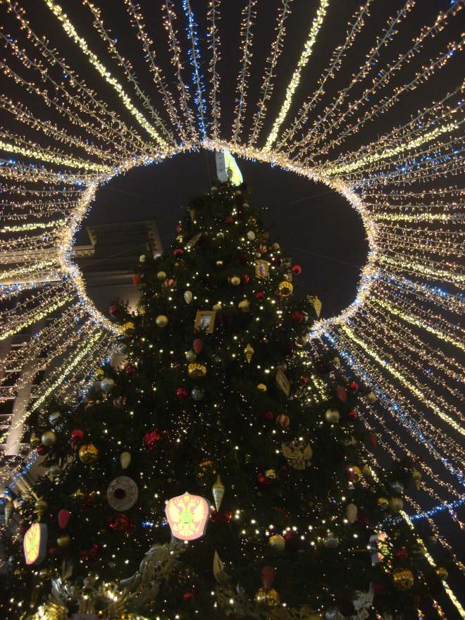 Yolka Christmas Tree on Manezh Moscow