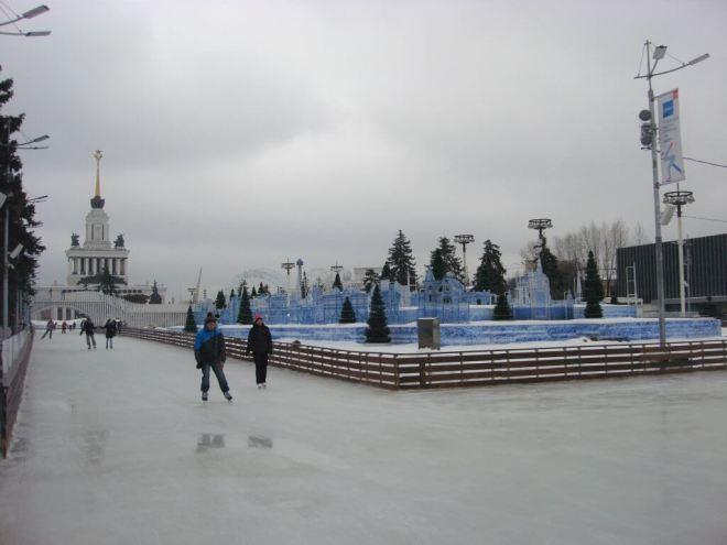 Ice skating at VDNH Moscow