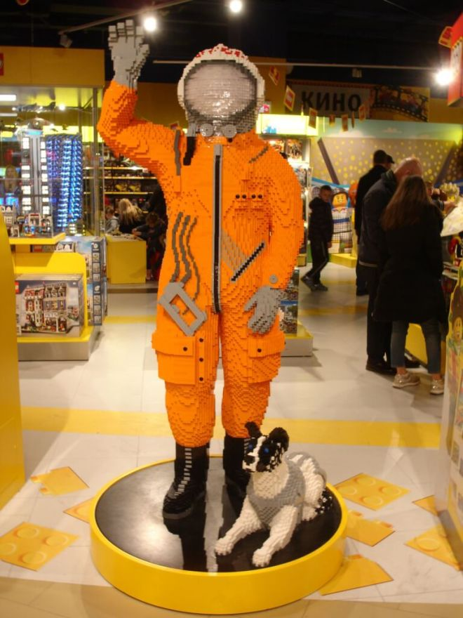 Gagarin and Laika out of Lego