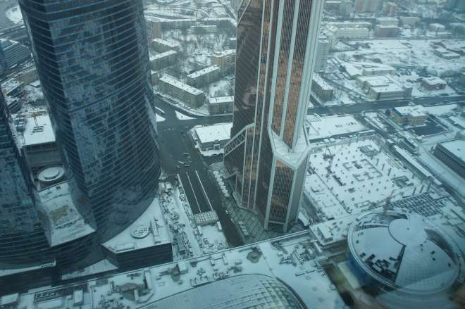 Looking down from Imperia Tower Moscow City