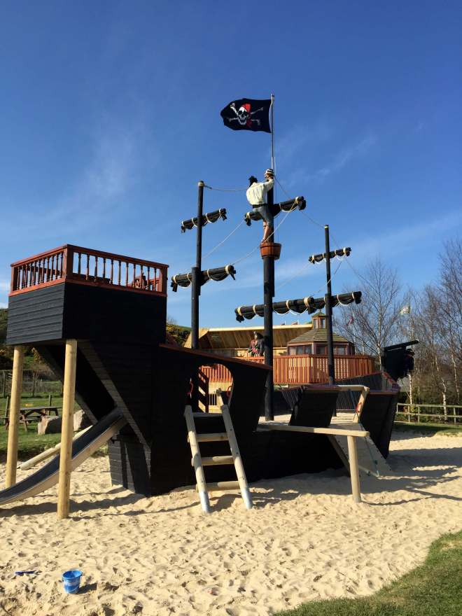 Heads of Ayr Farm Park Pirate ship