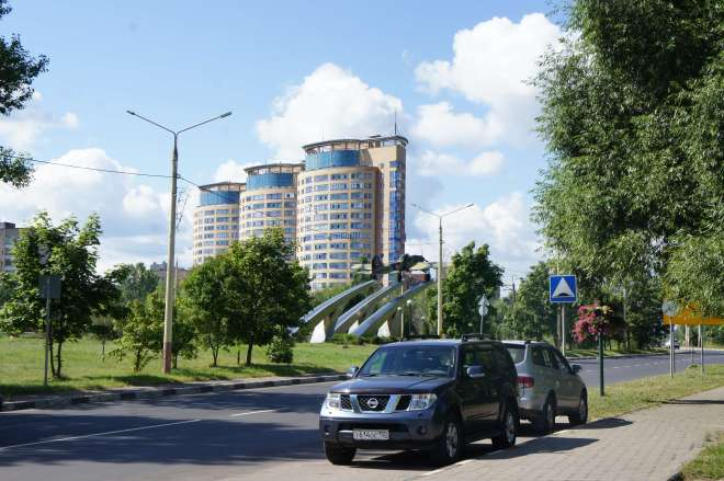 New apartment blocks Dubna Russia
