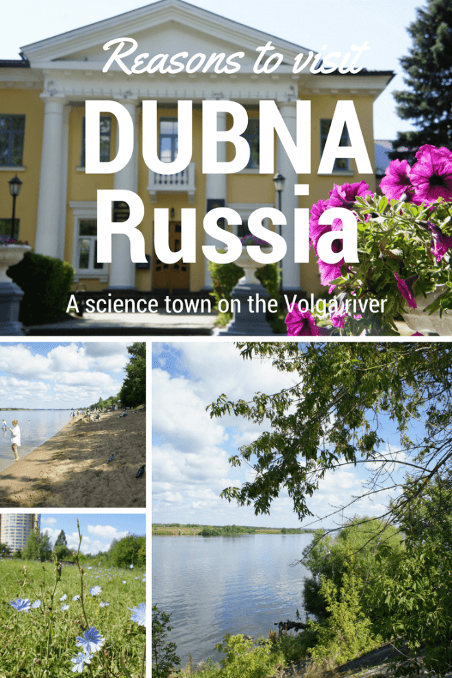 Reasons to visit Dubna on the Volga in Russia include its sandy beach, the Joint Institute for Nuclear Research and a very large statue of Lenin