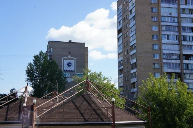 Soviet apartment block Dubna Russia