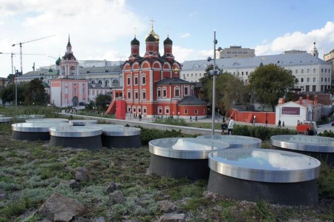 Znamensky Monastery New Zaryadye Park Moscow