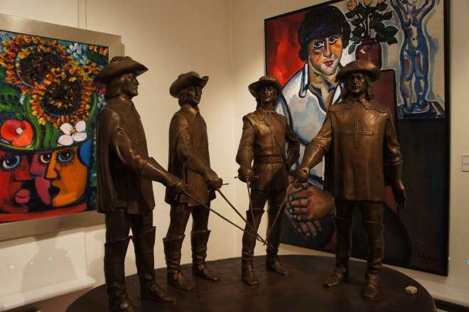 The Three Musketeers Zurab Tsereteli Studio Museum Moscow