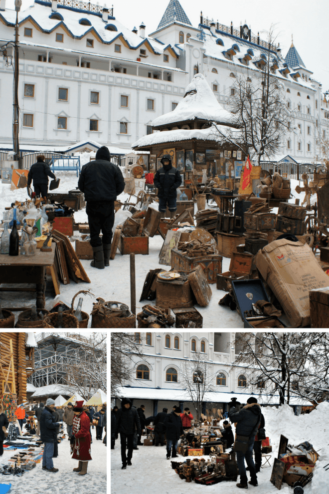 The flea market at Vernissage in Ismailovo in Moscow