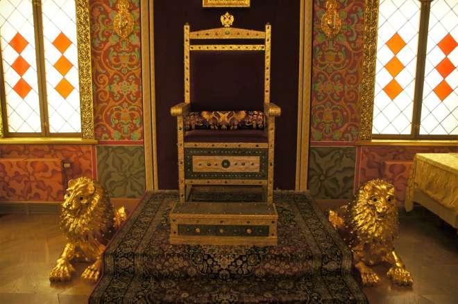 Throne at Palace of Tsar Alexey Mikhailovich Kolomenskoye Moscow