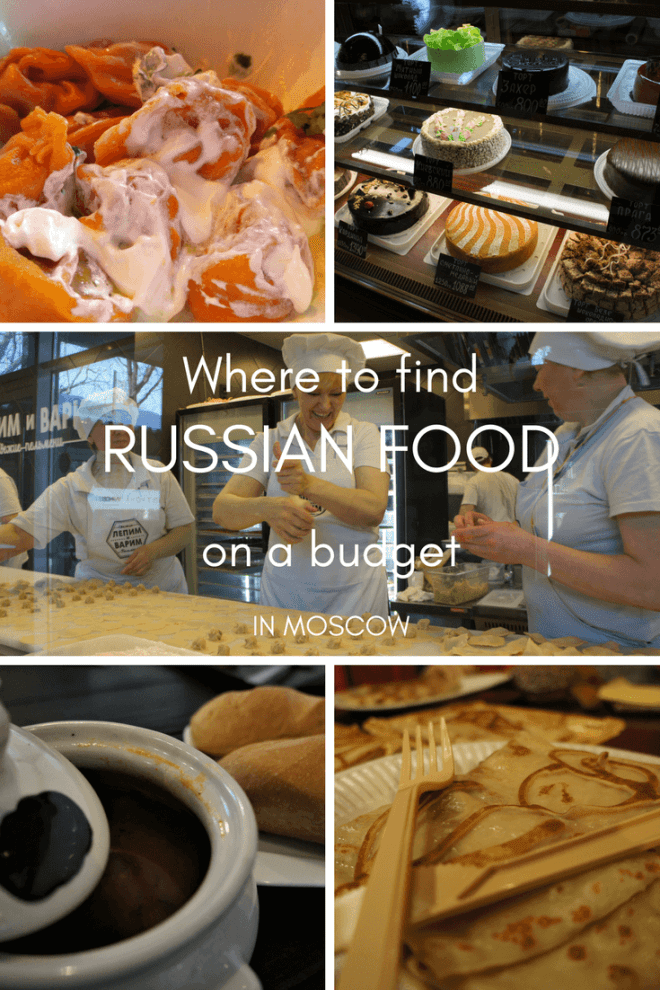 Where to find typical #Russian #food on a budget in #Moscow Russia