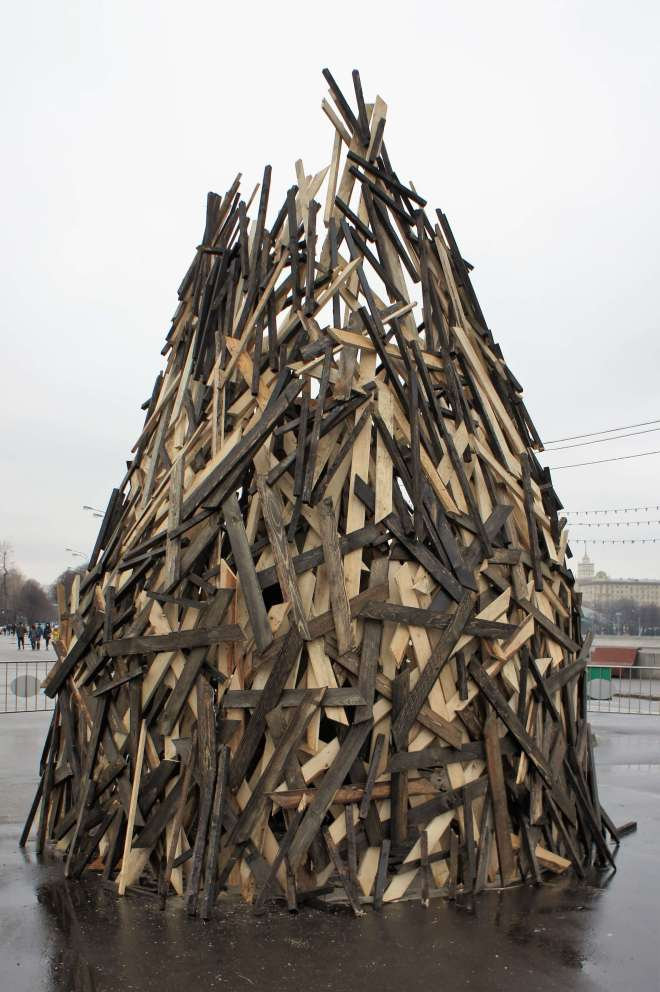 Bonfire for Maslenitsa Russia