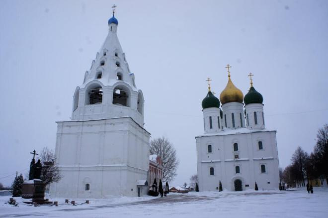 Churches inside the Kremlin In Kolomna Russia