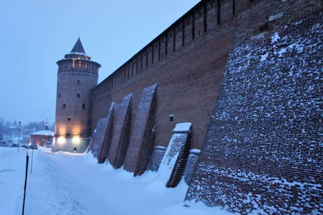 Kremlin walls and tower in Kolomna