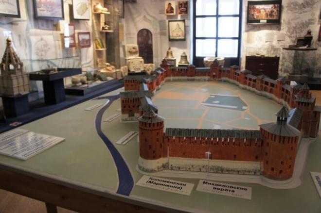 Model of the Kolomna kremlin