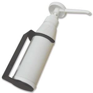 Soap dispenser and bracket for mobile sinks