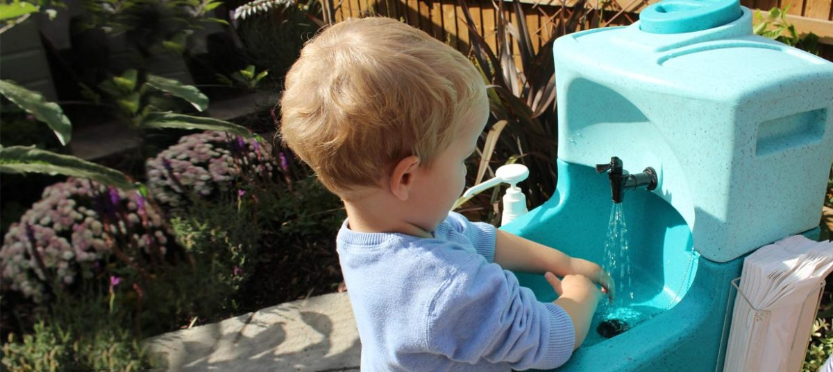 KiddiSynk portable handwashing for preschool