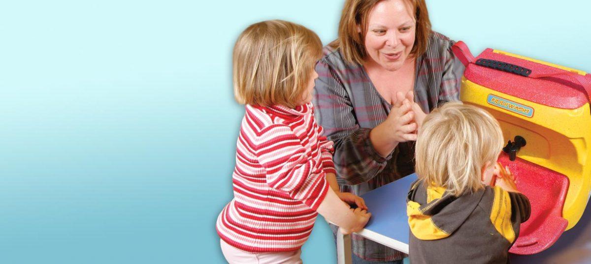 Portable handwashing for young children
