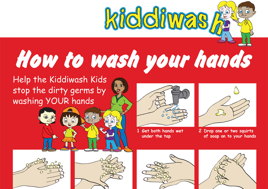 image relating to Printable Hand Wash Signs named Train small children hand washing totally free obtain! Kiddiwash