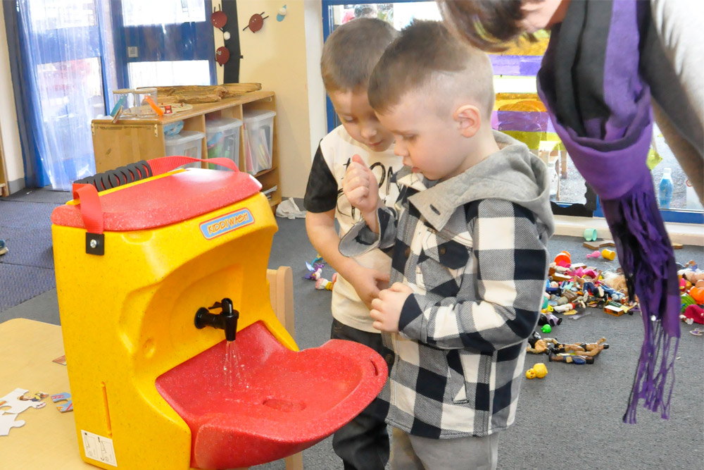 The importance of hand washing in preschool