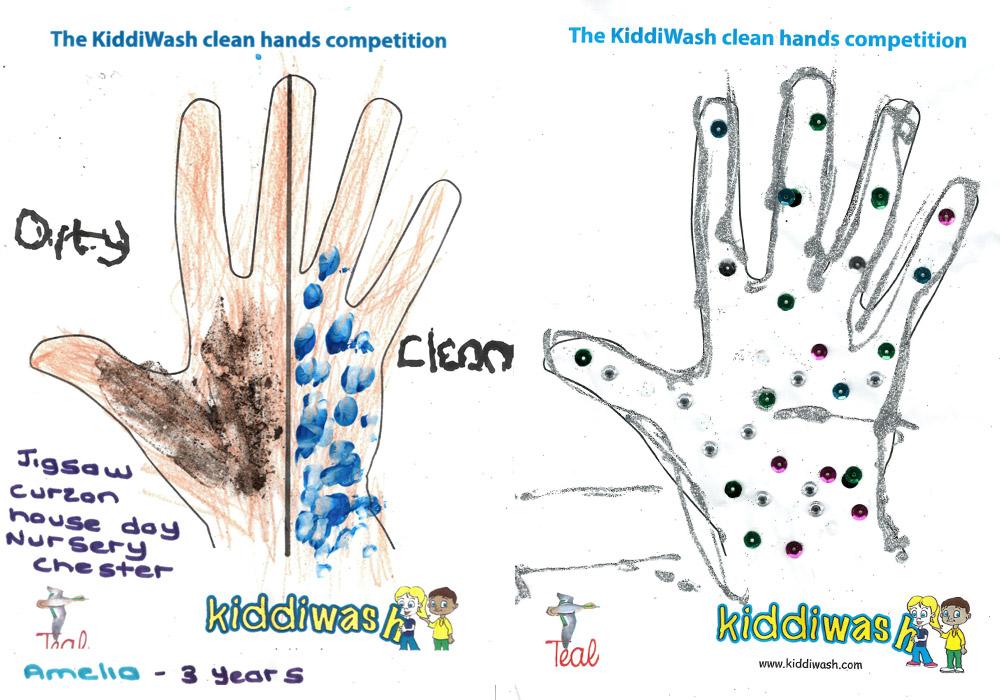Kiddiwash clean hands runners up