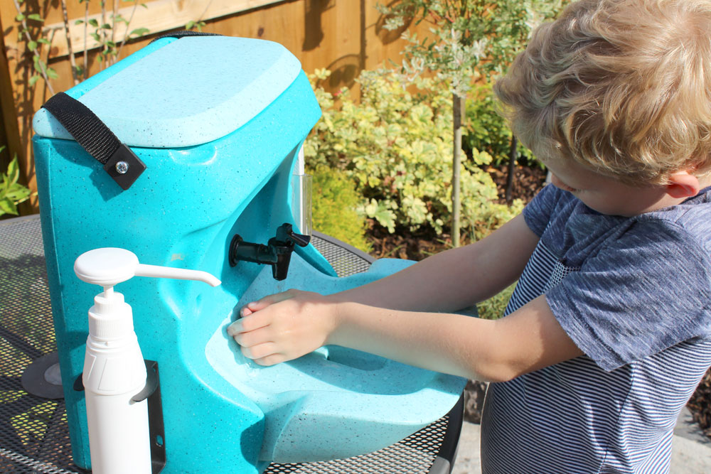 Find out about portable hand washing for kids at Childcare Expo