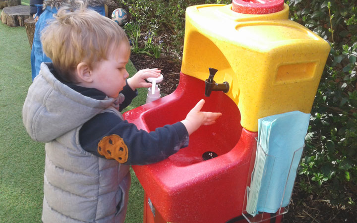Honey Pot Nurseries focus on hand washing and water conservation